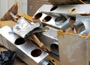 Replacing Old Fiberglass Ducting tearout